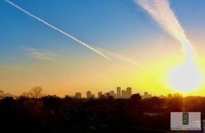 New Orleans sunset taken by white collar defense attorney Stephen J Haedicke
