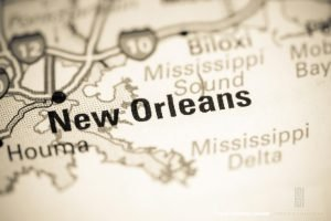 Map showing New Orleans on a map provided by fraud defense lawyer Stephen J. Haedicke